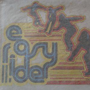 Vintage Easy Rider Skateboard Iron-On Transfer